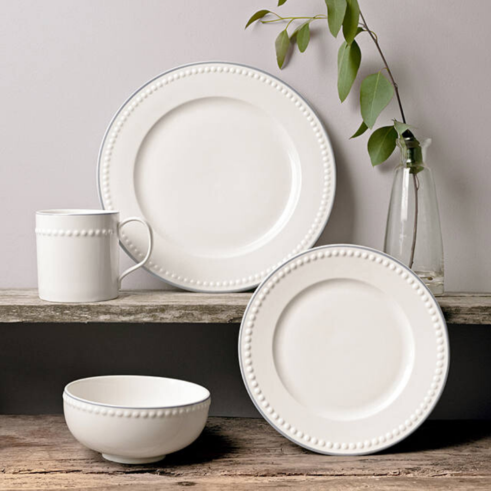 Signature Collection Dinnerware Set, White, 16 Piece