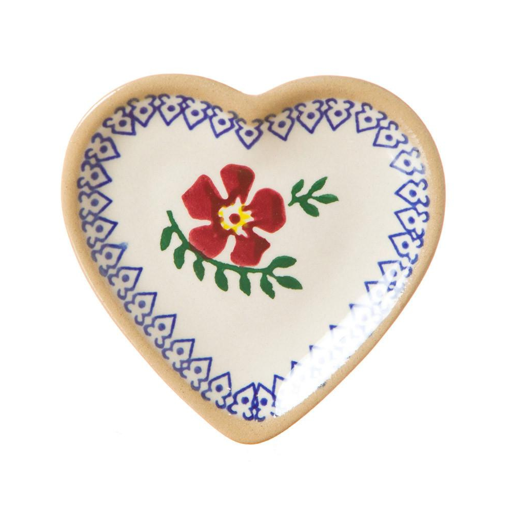 Tiny Heart Plate Old Rose