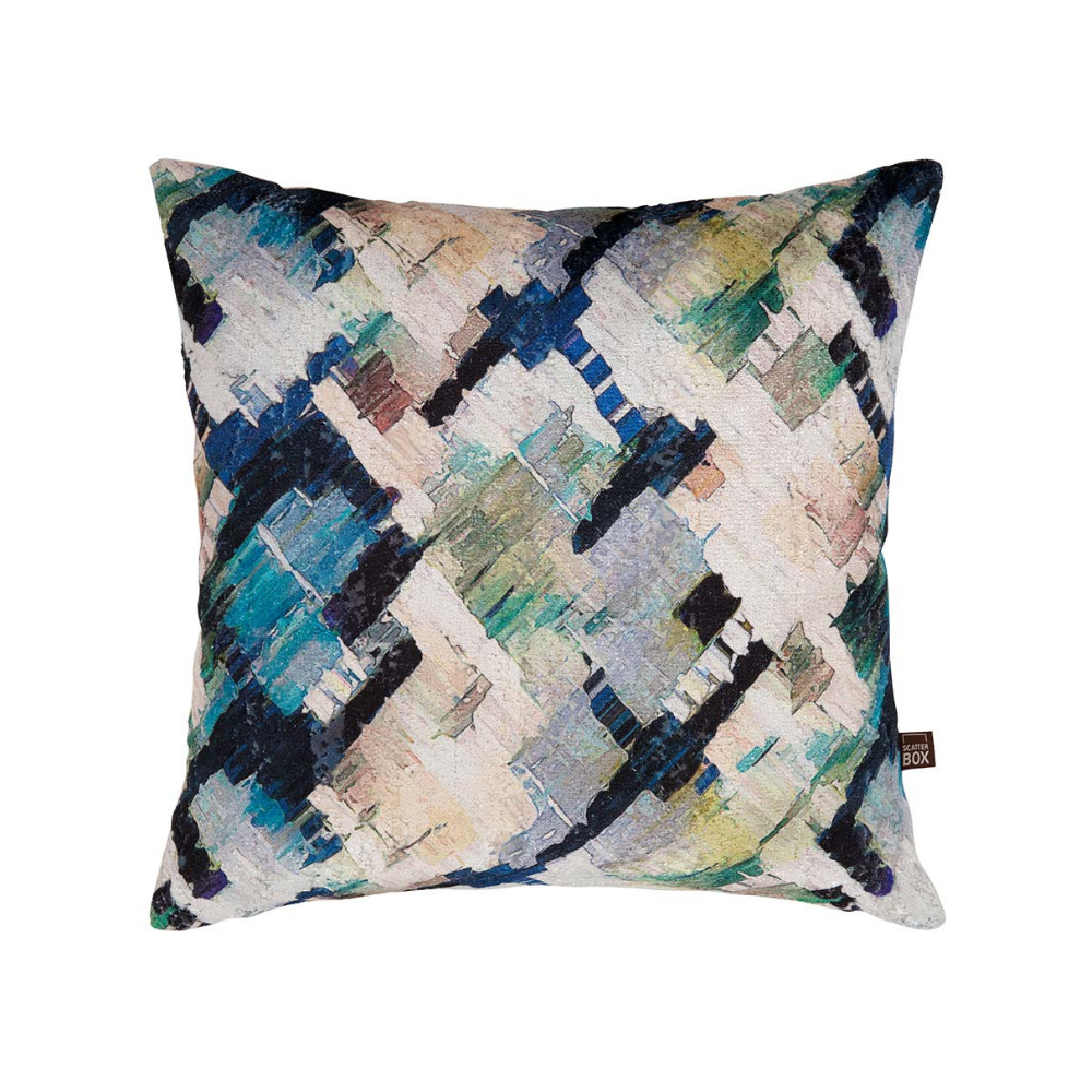 Axel 43 x 43cm Cushion, Blue/Green