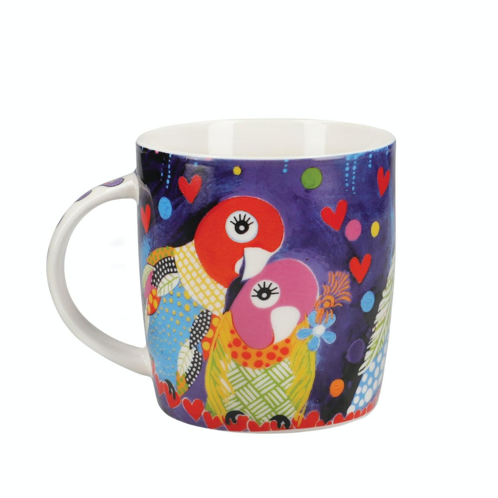 Love Hearts 370ml Love Birds Mug