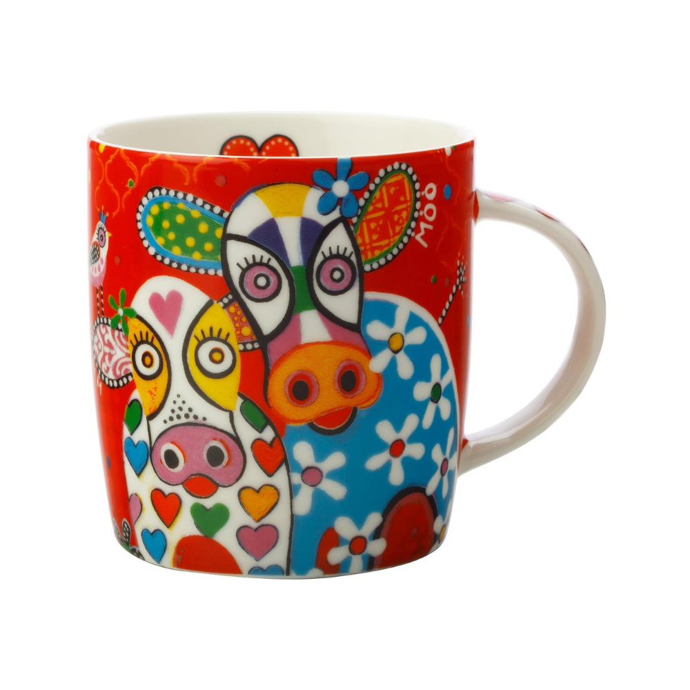 Love Hearts 370ml Happy Moo Day Mug