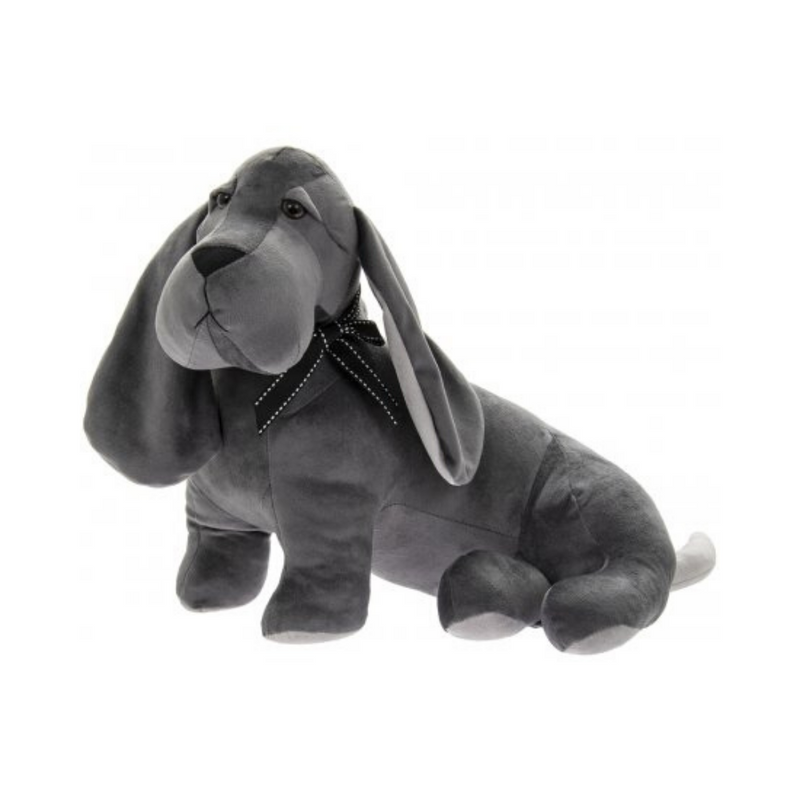 Grey Velveteen Dog Doorstop