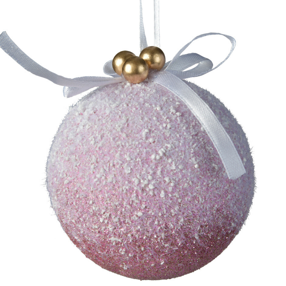 Velvet Pink Christmas Bauble