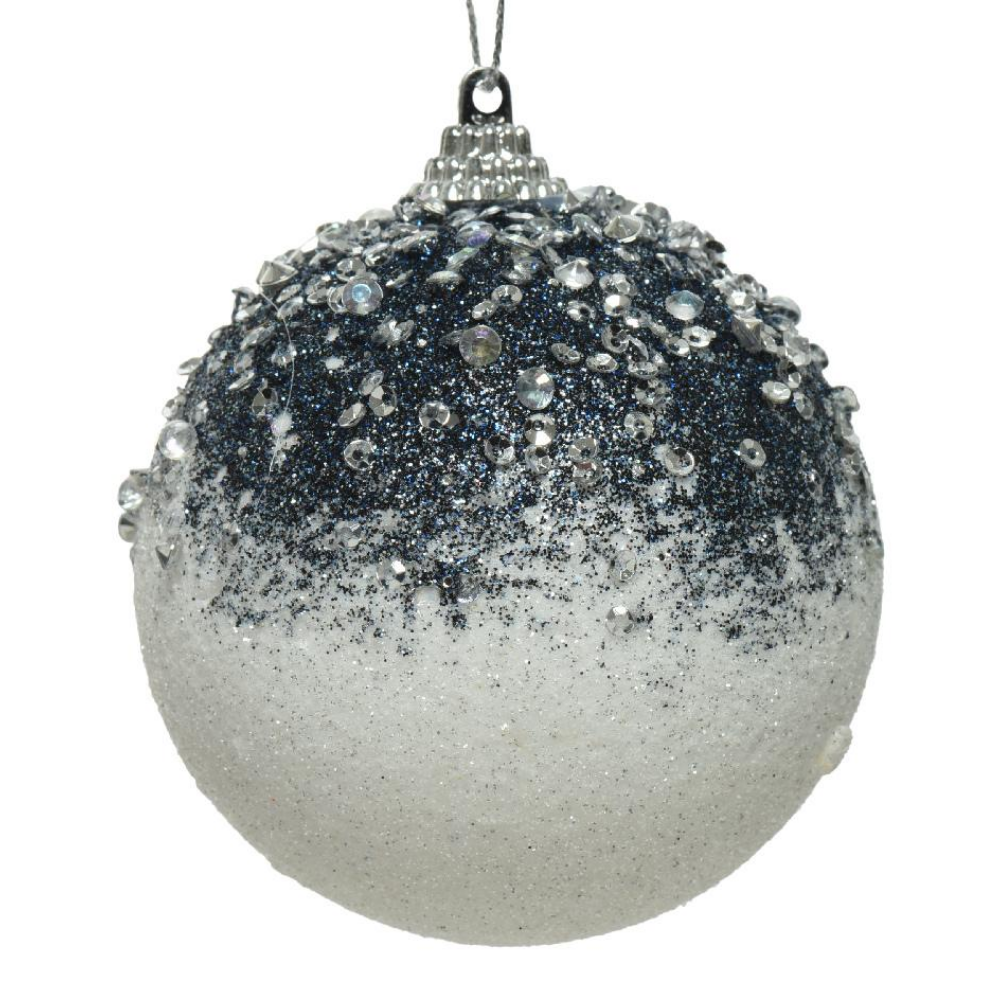 White/Blue Christmas Bauble
