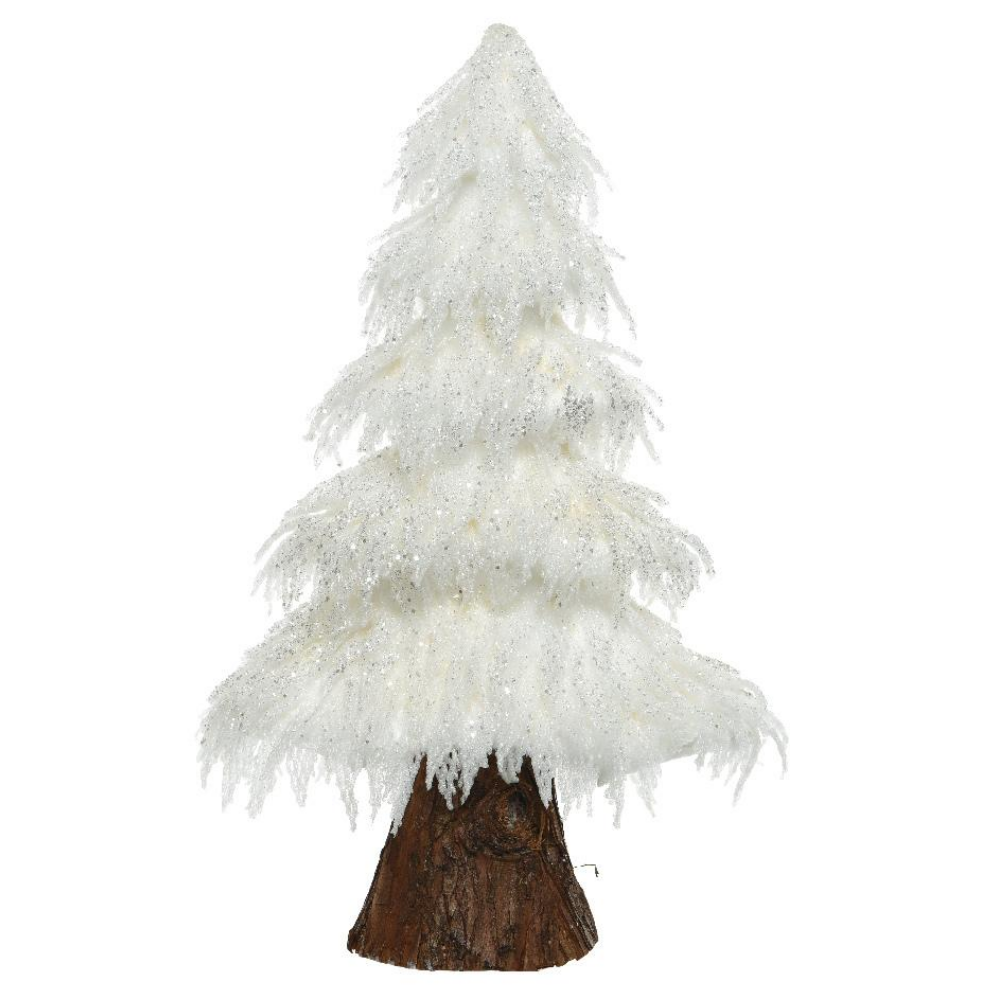 White Foam Christmas Tree With Glitter