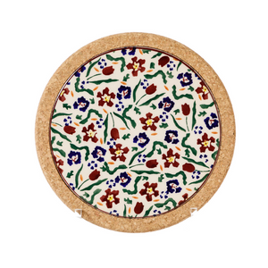 Trivet Round Wildflower Medow
