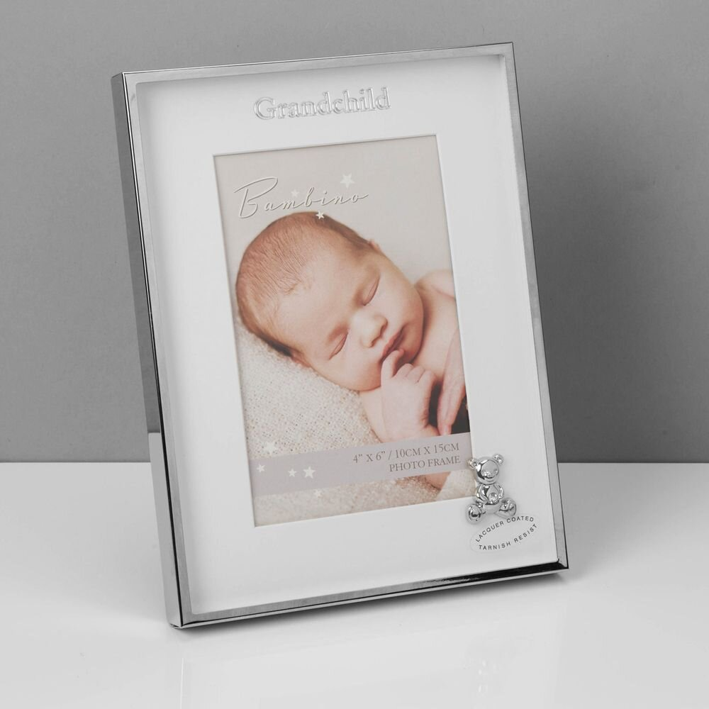 "4"" X 6"" - Bambino Silverplated Frame Teddy Grandchild"