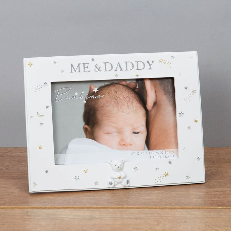 "6"" X 4"" - Bambino Resin Daddy and Me Frame"