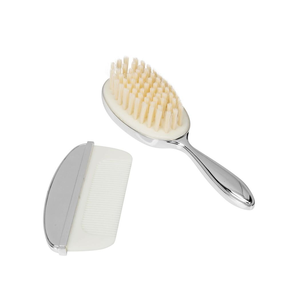 Bambino Baby Silverplated Brush and Comb Set
