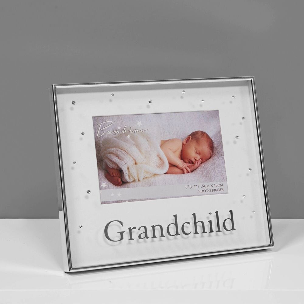 "6"" x 4"" - Bambino Silver Plated Photo Frame - Grandchild"