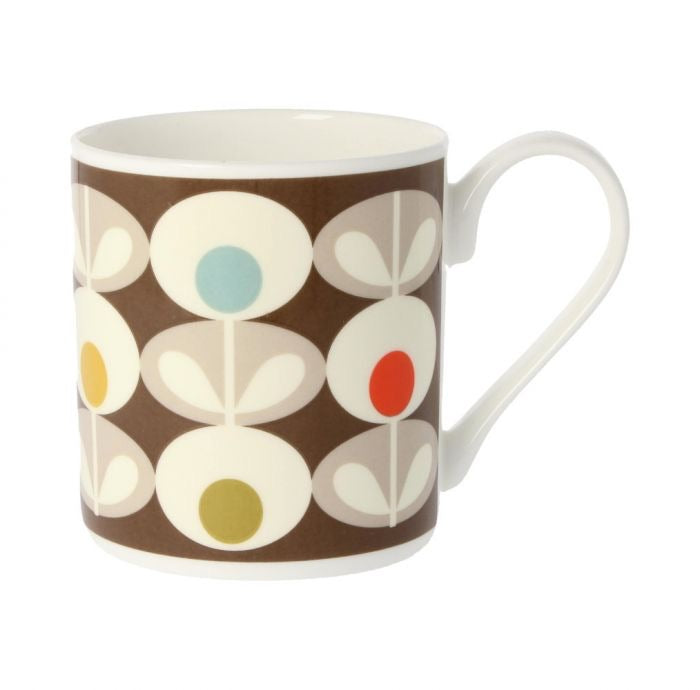 Orla Kiely Multi Oval Mug, 300ML