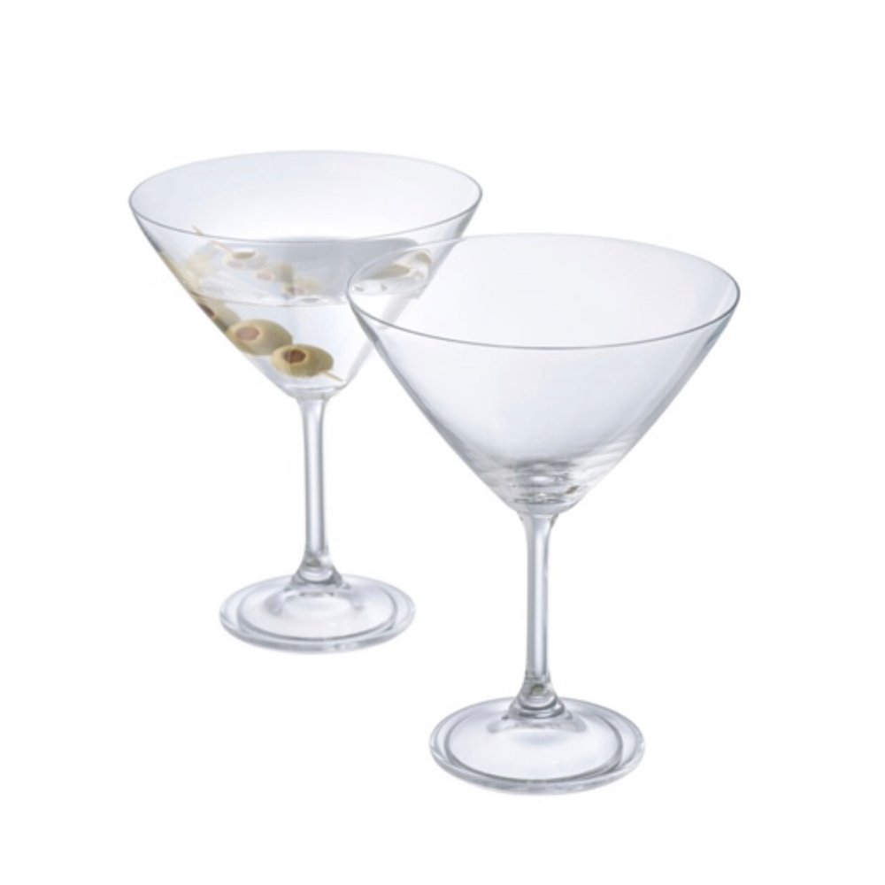 Elegance Martini Glasses Pair