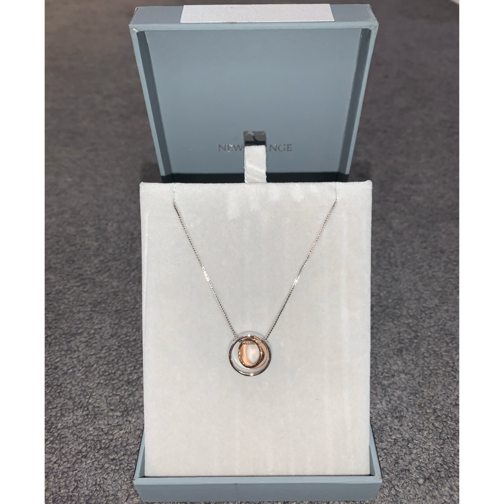 Silver & Rose Gold Ring Necklace