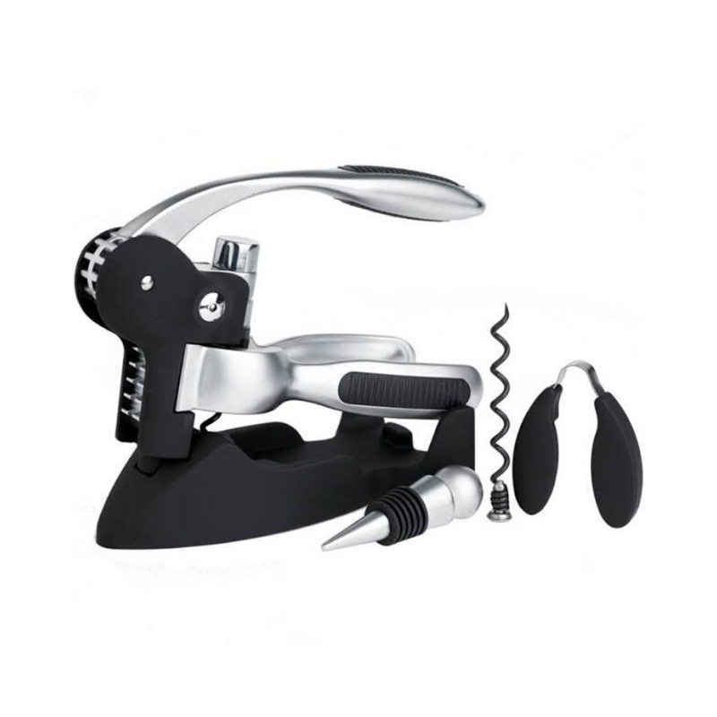 Deluxe Lever-Arm Corkscrew Gift Set