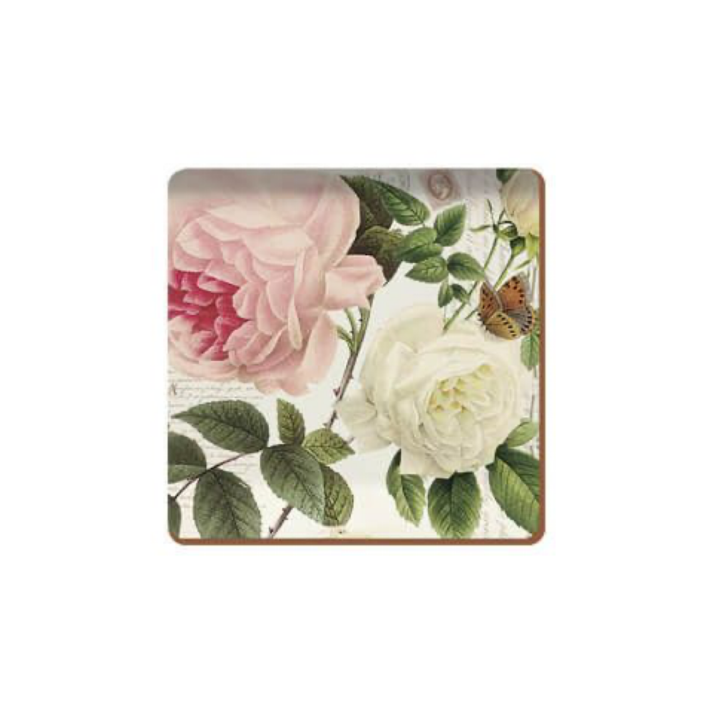 Rose Tile Pack Of 6 Premium Coasters