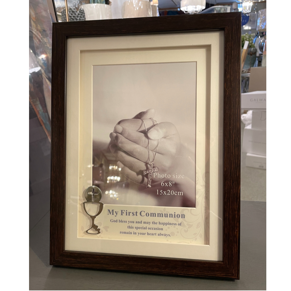 First Communion Brown Frame