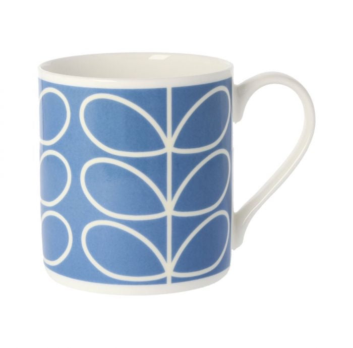 Orla Kiely Linear Stem Mug, Periwinkle Blue, 350ML