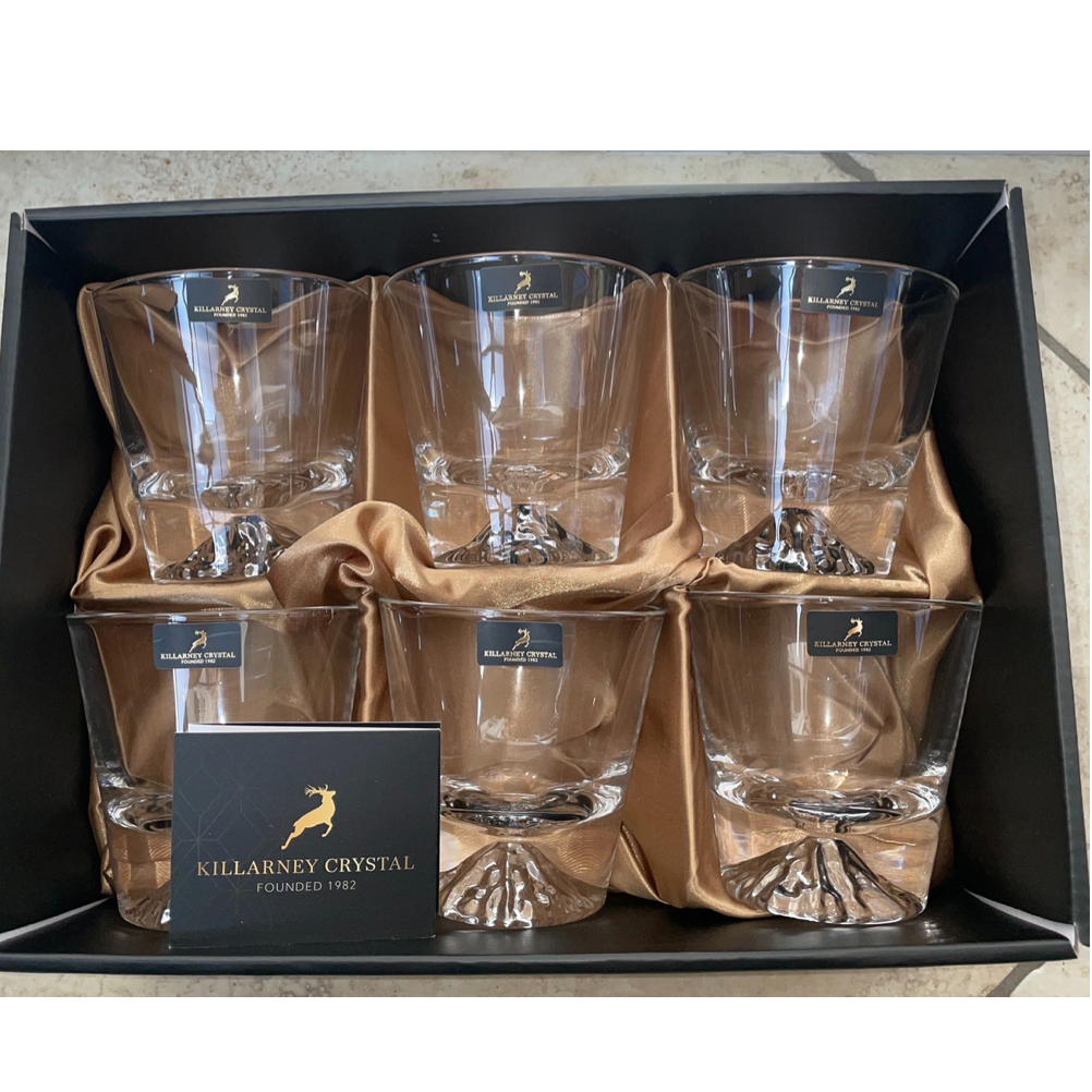 Set of 6 Iceberg Whiskey Glasses