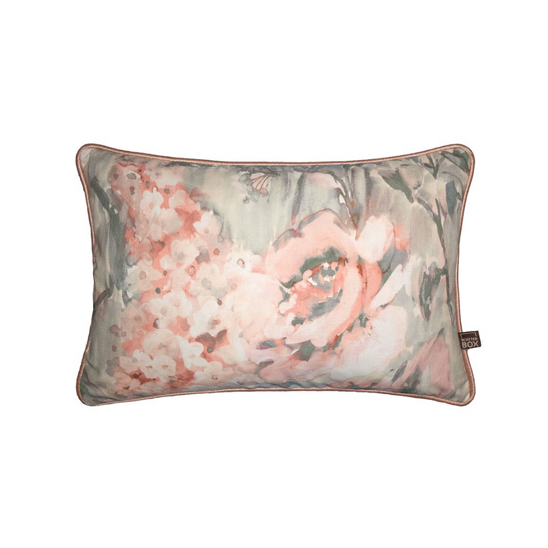 Edie Cushion 35CM x 50CM Blush/Sage