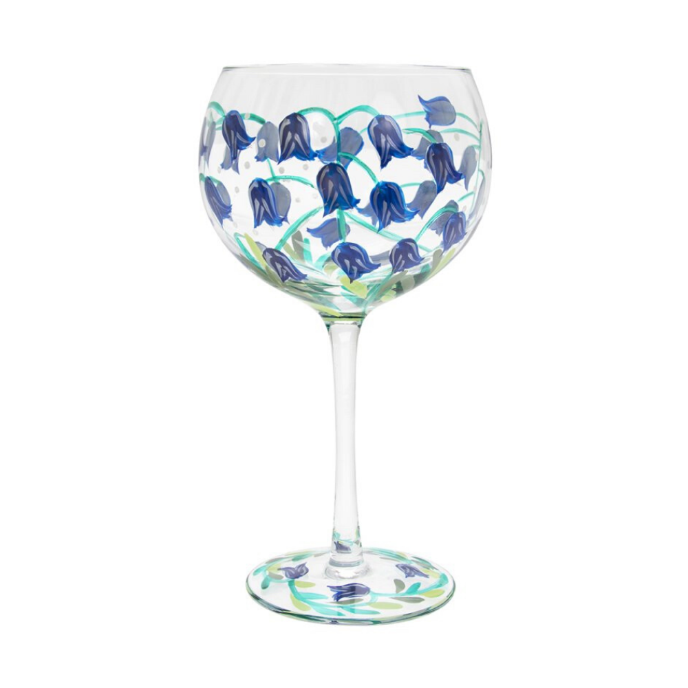 Gin Glass - Blue Bells
