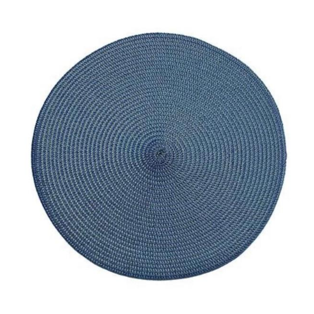 Circular Ribbed Placemat Slate Blue