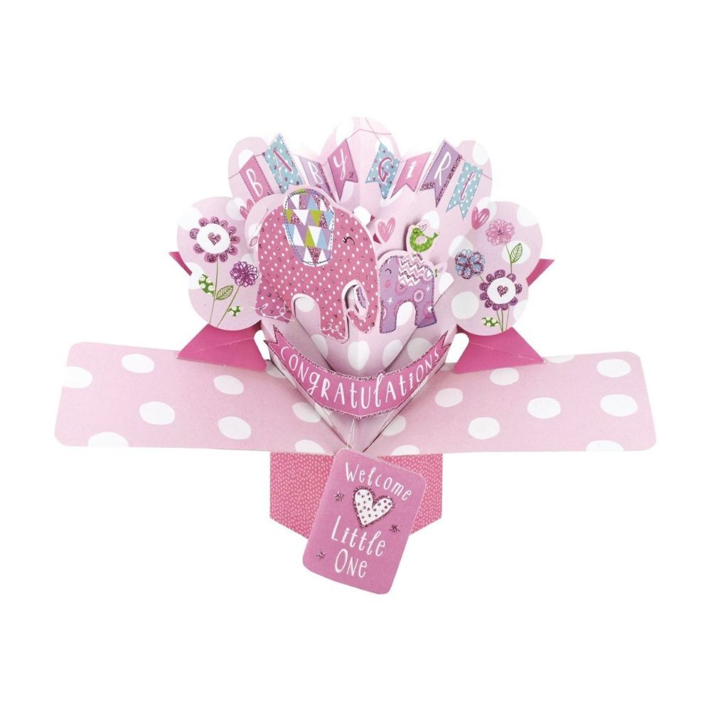 Baby Girl 3D Pop Up Card