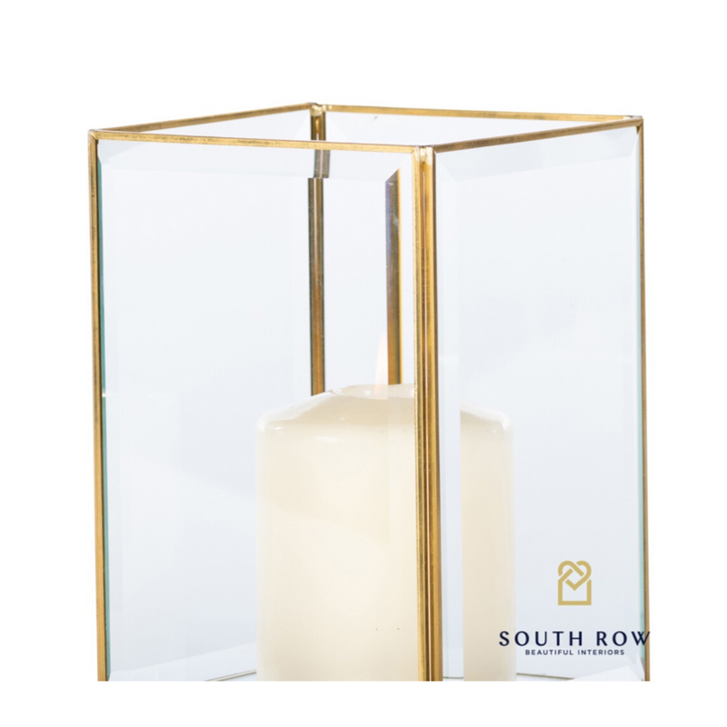 Alto Geometric Candleholder sq Brass Small