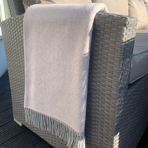 Pink & Grey Cashmere Throw