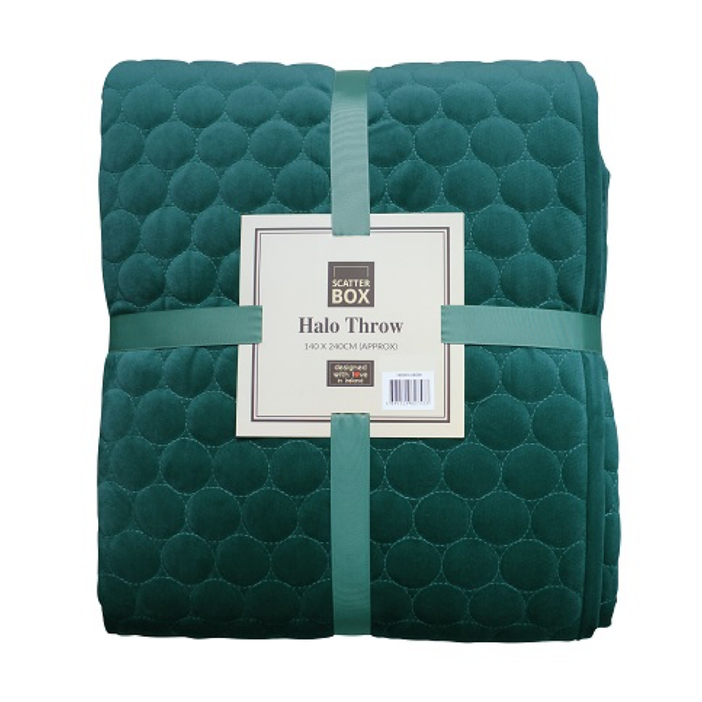 halo teal throw