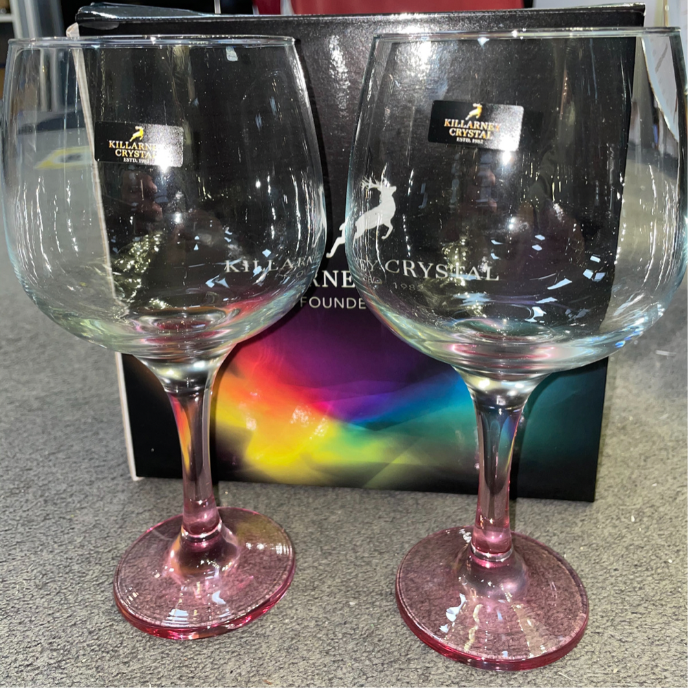 Coloured Gin Glasses x2