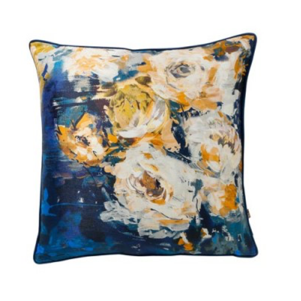 GIGI 45x45cm Cushion Navy/Yellow