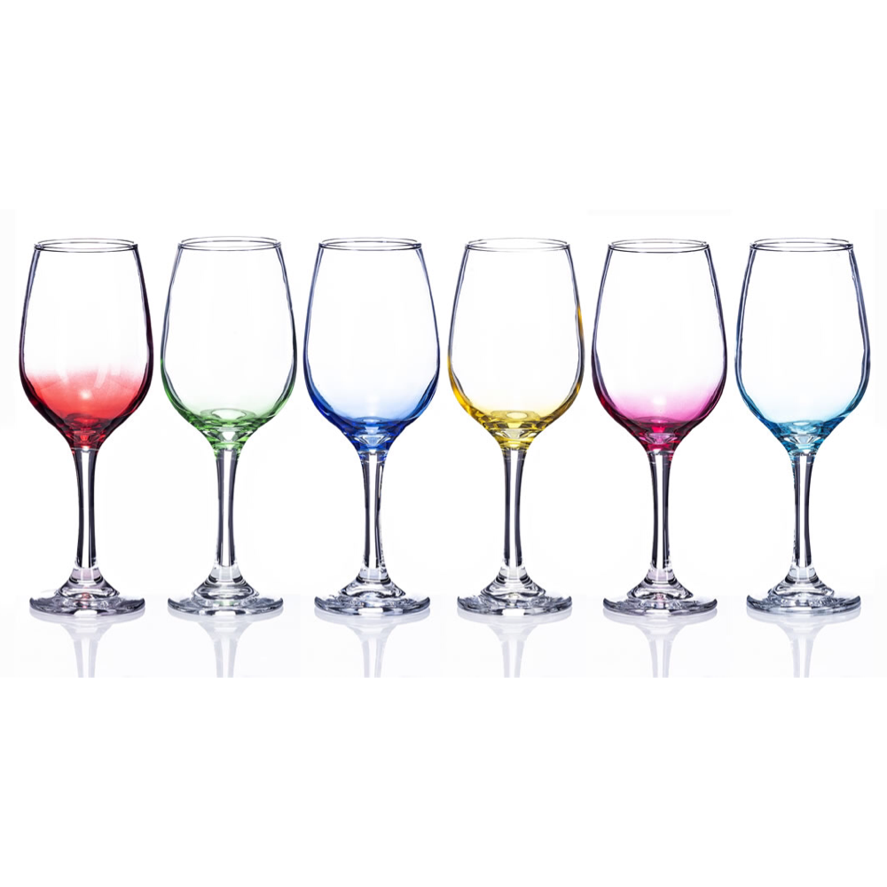 Gradual Rainbow Wine Glasses