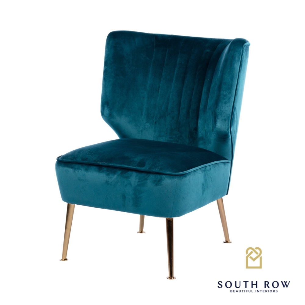 Easton Accent Chair Teal Velvet