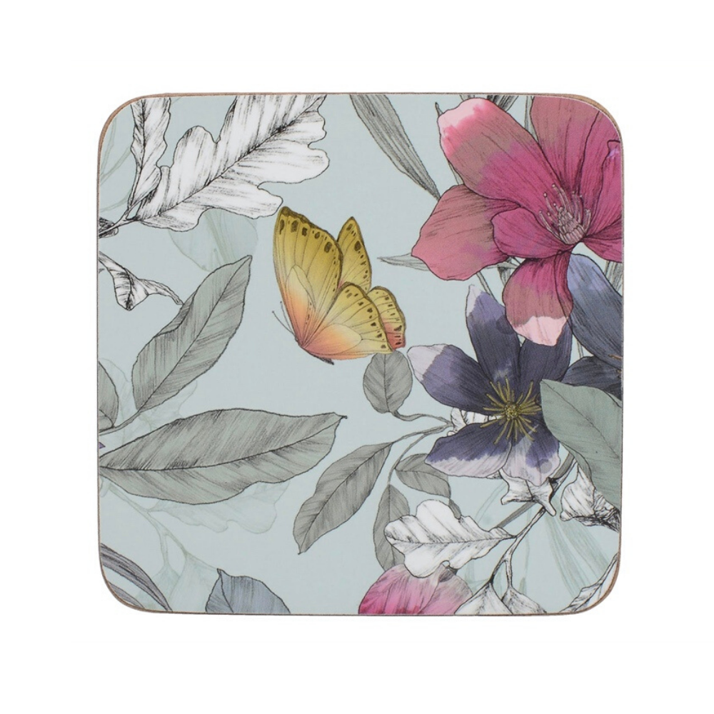 Butterfly Tile Pack Of 6 Premium Coasters
