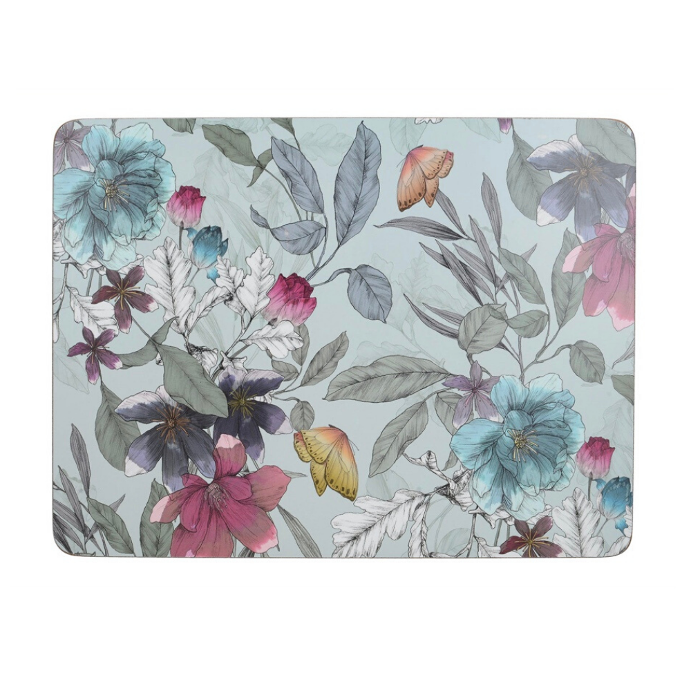 Butterfly Tile Pack Of 4 Large Placemats