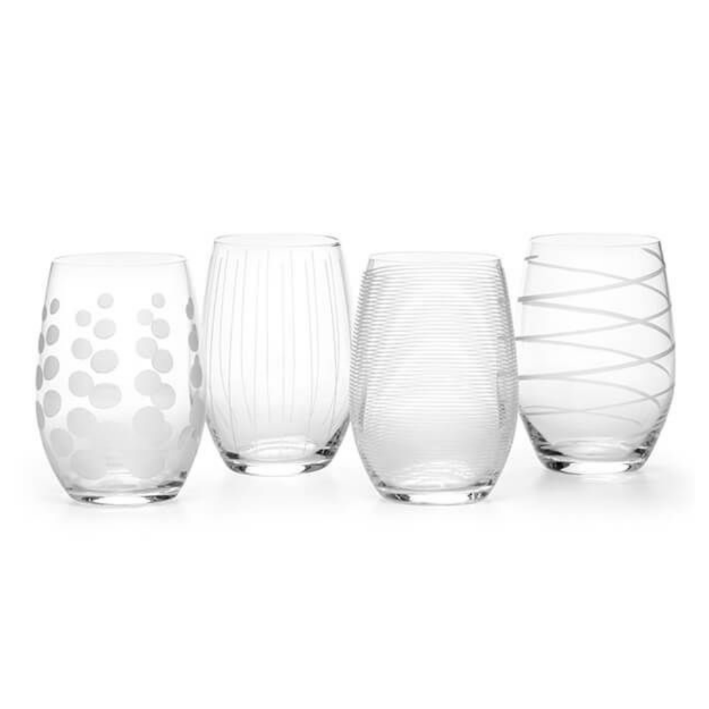 Cheers Stemless Wine Glasses - Set of 4