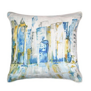 Latitude 45x45cm Cushion, Yellow/Blue