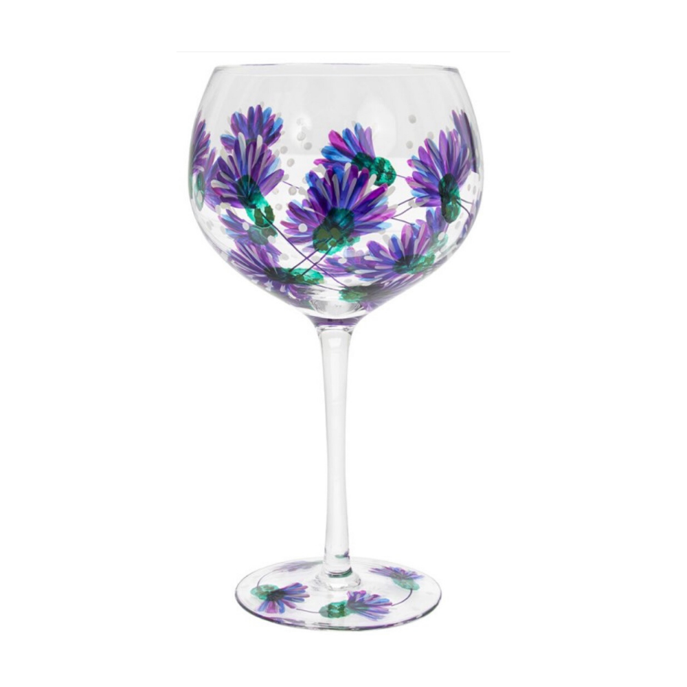 Gin Glass - Thistle Flower