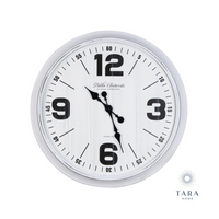 Retro Oversize Wall Clock 76cm White