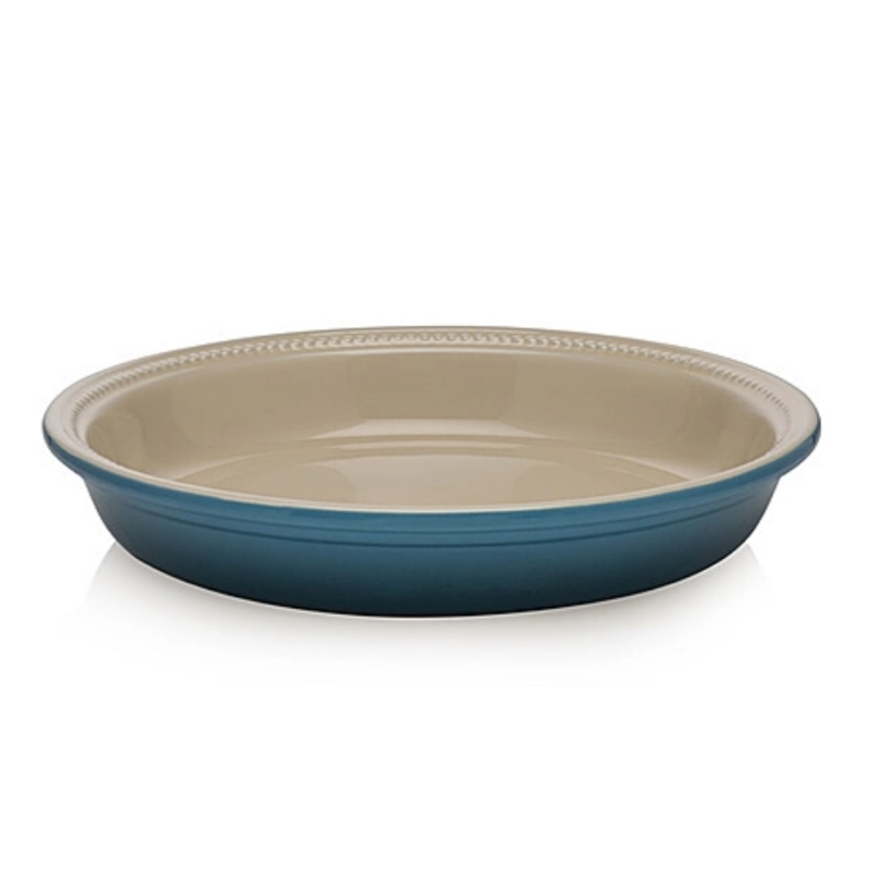 Stoneware Traditional Pie Dish - Deep Teal