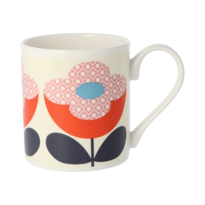 Orla Kiely Buttercup Stem Red/Pink Mug, 300ML