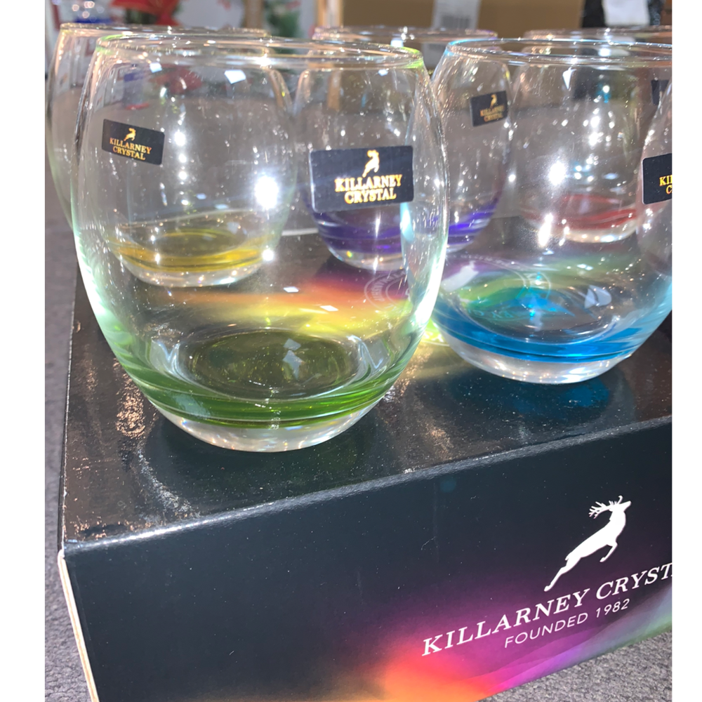 Coloured Tumblers Glasses x6