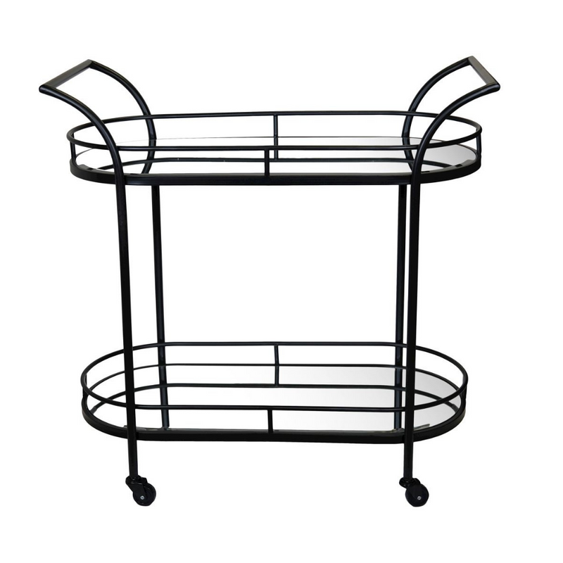 Black Mirrored Drinks Trolly