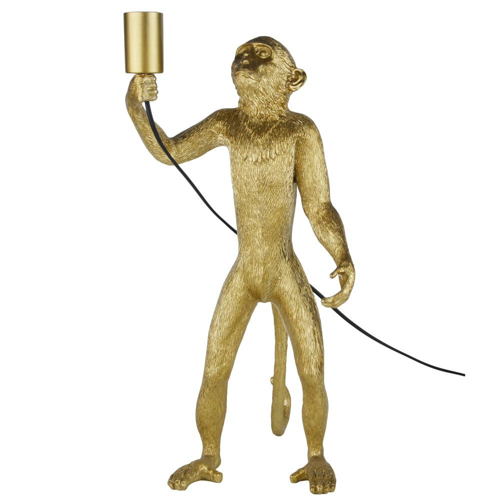 Caesar The Monkey Gold Table Lamp
