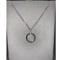 Silver Diamante Necklace