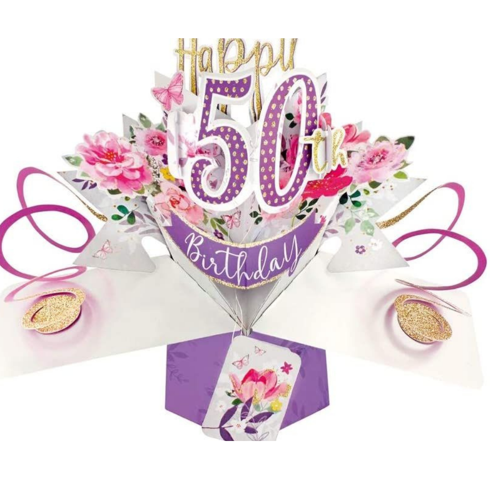 50th Birthday 3D Pop Up Card