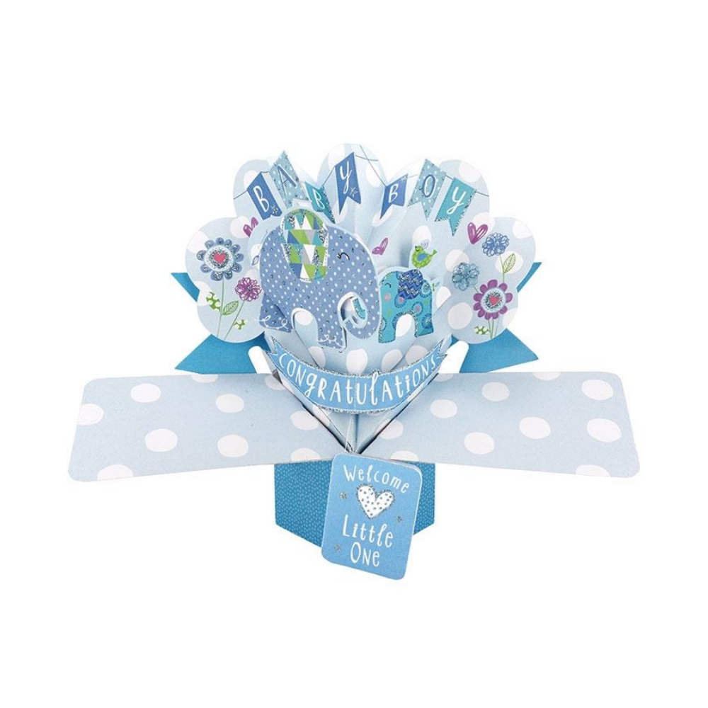 Baby Boy 3D Pop Up Card