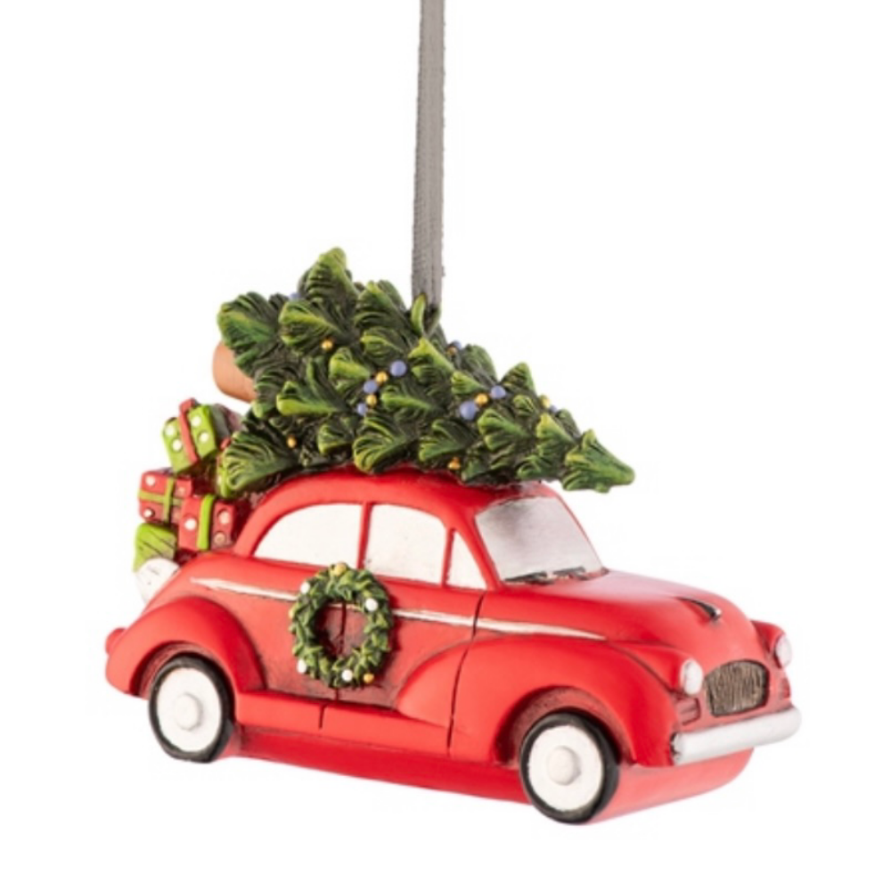 Aynsley Driving Home For Christmas Ornament