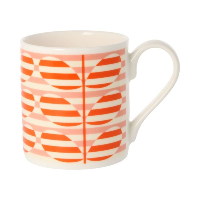 Orla Kiely Stripe Stem Orange Mug, 300ML