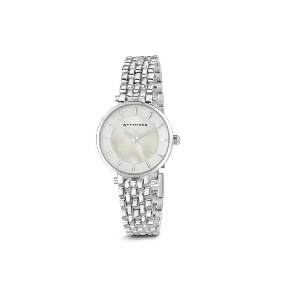 Ladies Silverplated Watch White Face